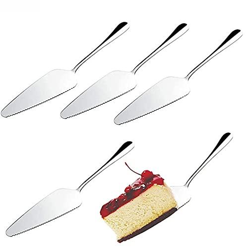 sylbx 5 Stück Tortenheber Kuchenheber Profi Tortenmesser Edelstahl, Kuchenmesser, Spülmaschinenfest, geeignet für für Küchen Restaurants Partys