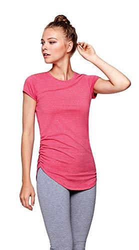 Damen Yoga Shirt Longshirt Top Fitness Training Funktionsshirt in rossette Größe XL