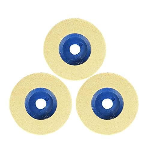Rueda de pulido de lana de 4 pulgadas y 100 mm Almohadillas de pulido 3 uds Disco de pulido de fieltro de rueda de amoladora angular para cerámica de vidrio de mármol de metal