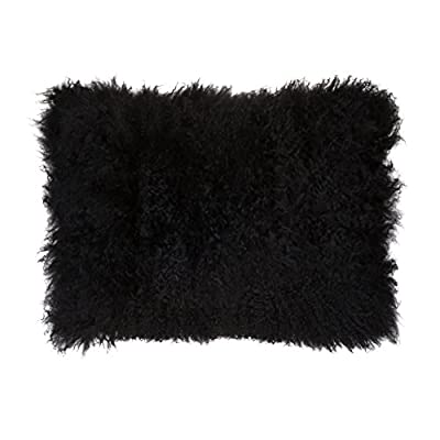 SLPR Decorative Mongolian Lamb Fur Throw Pillow Cover for Couch and Bed