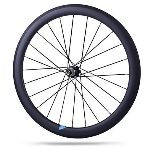 LDDLDG Fahrrad Laufradsatz 700c Hinterräder Fahrrad-Carbon-Faser-Straßen-Fahrrad 50mm Klammer Wheelset Rennrad Rad