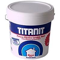 Titanlux - Titanit- Pintura plástica, Mate blanco, 4L (ref. 029190004)