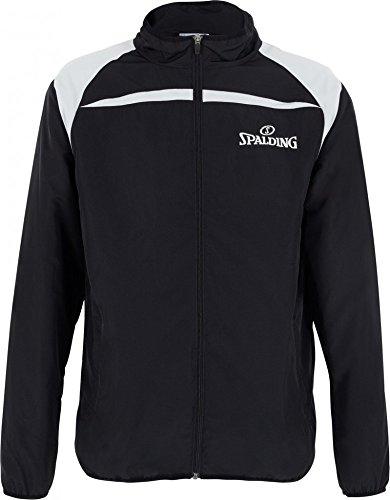 Spalding Herren Jacke-300270401 Jacke, schwarz/Silber grau, L
