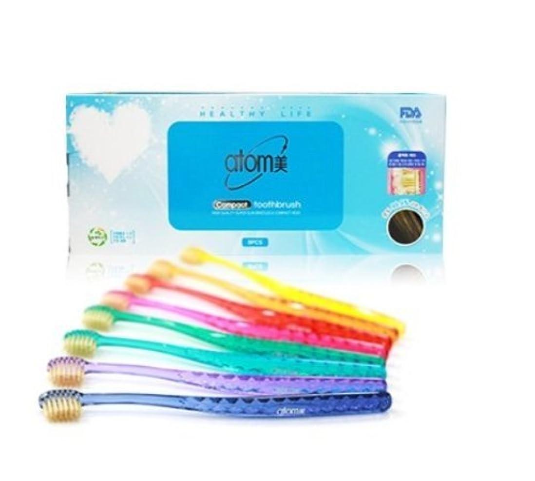 思慮のない幻滅朝ごはんAtomi Atomy Atom美 アトミ アトミコンパクト歯ブラシ8本セット
