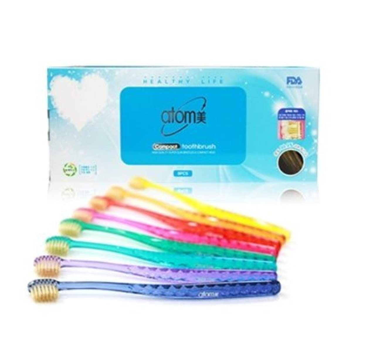 悪用政治家の環境に優しいAtomi Atomy Atom美 アトミ アトミコンパクト歯ブラシ8本セット