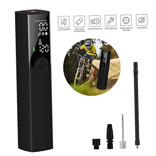 AAGOOD Tragbare Mini-Luftverdichter-Inflator Notfall-Ladegerät LED-Licht-Digital-LCD-Bildschirm, Handpumpe für Fahrrad-Auto-Fahrrad-Motorrad-Reifen aufblasbare Kugel-Schwimmen-Ring