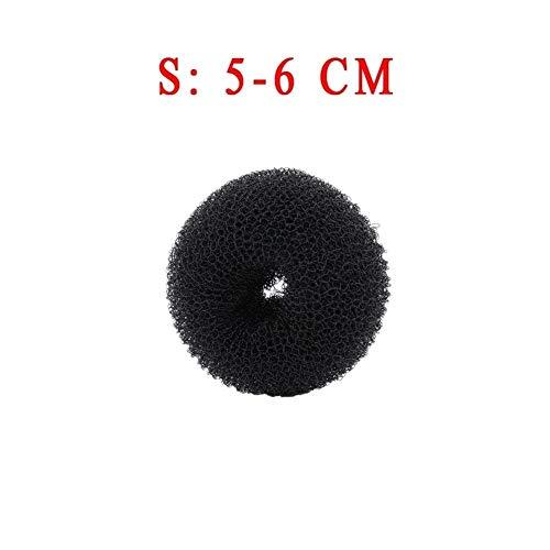 YUNGYE 1 / 3PCs Taille S/M/L Mode Femmes Magic Shaper Beignet Anneau De Cheveux Bun Maker Cheveux Accessoires Lady Styling Outil Chapeaux Drop Ship (Color : Black 6cm)