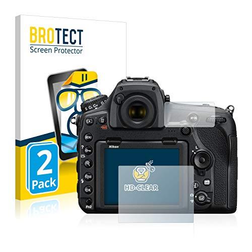BROTECT Protector Pantalla Compatible con Nikon D850 Protector Transparente (2 Unidades) Anti-Huellas