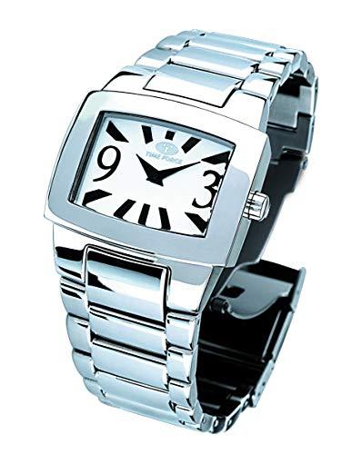 Reloj TIME FORCE Acero Inoxidable Blanco Plata Mujer
