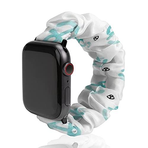 Cinturino da uomo e donna compatibile con Apple Watch 42 mm/44 mm, morbido elastico elastico di ricambio per iWatch Series SE 6/5/4/3/2/1, acquerelli Anchor tema marino Hello Sailor Life.