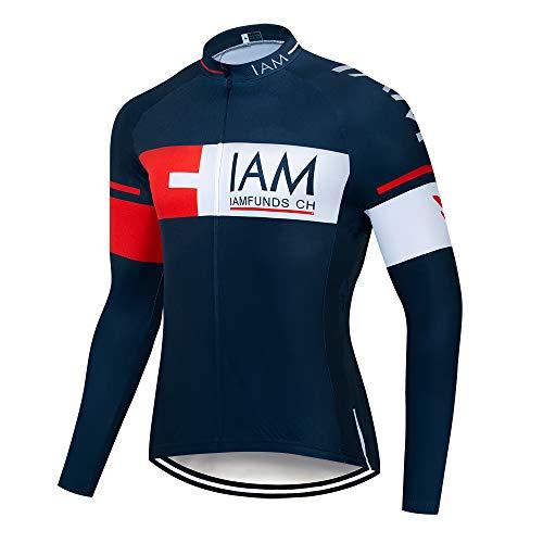 Maglia da Ciclismo Autunno Professionale Uomo Maniche Lunga Traspirante Asciugatura Rapida Magliette MTB Abbigliamento Mountain Bike