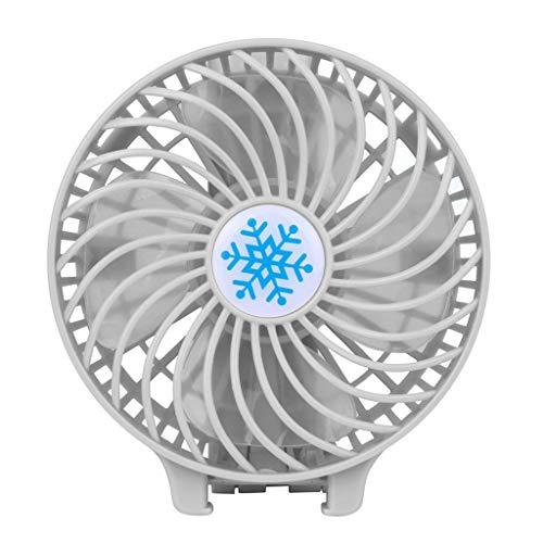 Mini Liquidation de ventilateur, refroidisseur d'air de ventilateur rechargeable portable Mini batterie USB 18650 portable, ventilateurs pour Pâques et St Patrick, blanc