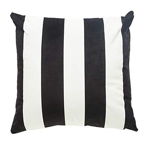 Da.Wa Halloween Federa Decorativa Cuscino Divano a Righe Bianco e Nero Abbraccio Federa Non includere Cuscino Nucleo 45cm * 45cm (1 PZ)