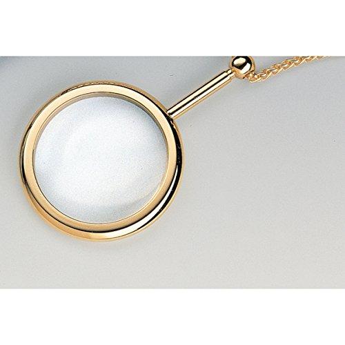 ESCHENBACH OPTIK vergoldete Schmucklupe mit 3,5X Vergrößerung, rund, Linse Ø 40 mm