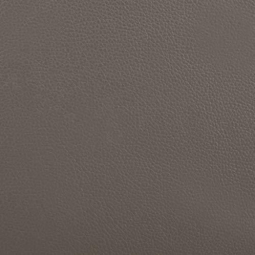 vidaXL Säng med madrass grå och vit konstläder 180x200 cm