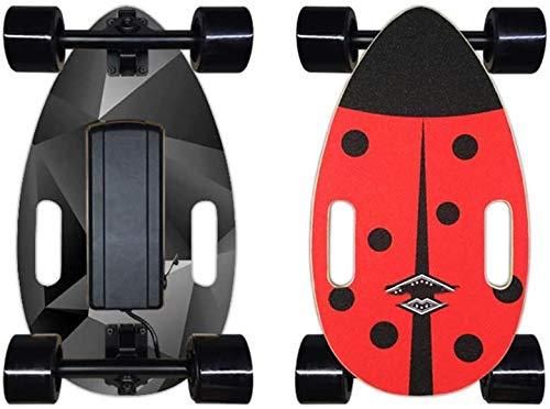 Haojie Cinco Looks-Mini Smart Electric Skateboard Four Wheel Un Solo Disco Portátil Pequeño Piece Pescado Control Remoto Inalámbrico Scooter Scooter,B