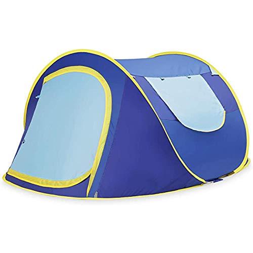 AORR Tenda Pop up da 5 a 6 Persone Tende Automatiche per Esterni Doppi Strati Tenda per Grandi Famiglie Tenda da Campeggio Impermeabile da Campeggio, Singola 1-2p, Blu