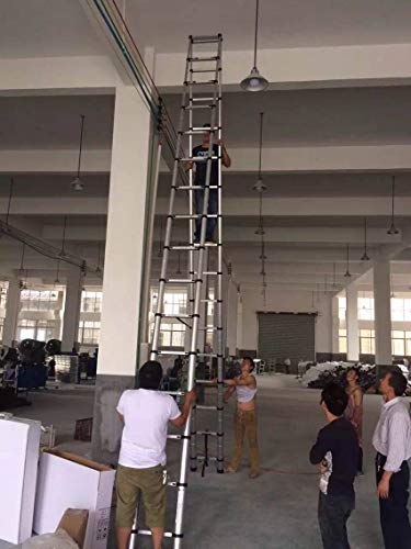 20ft Telescopic Professional Folding Aluminum Multi Purpose Telescoping Ladder Extension Ladder with Spring Loaded Locking (Ladder 5.4M+ 5.4M)