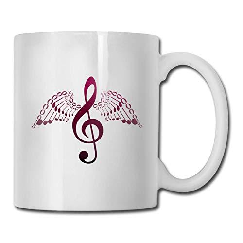 Becher Keramik Mode Tasse Kaffee Porzellan Tasse 11 Unzen Geschirr Geschenk Music Angel