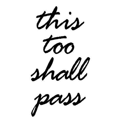 This Too Shall Pass Positive Sayings Uplifting Vinyl Wall Decal Home Decor