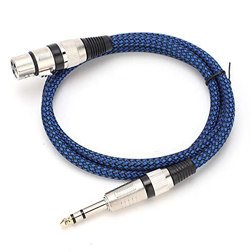 Cabo de áudio, OD de 6,5 mm / 0,3 pol. OD Nylon tecido OFC sólido para microfone capacitor misturador(1 metro)
