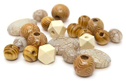Cousin DIY 65022058 Wood and Acrylic Bead Mix, Brown