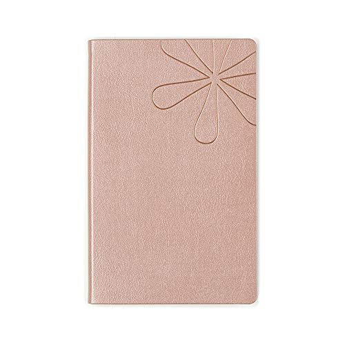 Erin Condren Designer Softbound Notebook - Features a Metallic Rose Gold Colored Cover and a Lined Layflat Page Layout. Great for Creative Writing, Journaling, Taking Notes in School or Office