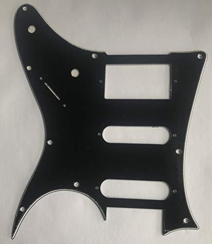 Golpeador para guitarra Ibanez RG40 HSS estilo placa antiarañazos (3 capas, negro)