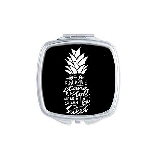 DIYthinker être Un Ananas Support Haut Citation carré Noir Miroir de Maquillage Compact Portable Mignon la Poche miroirs Cadeau
