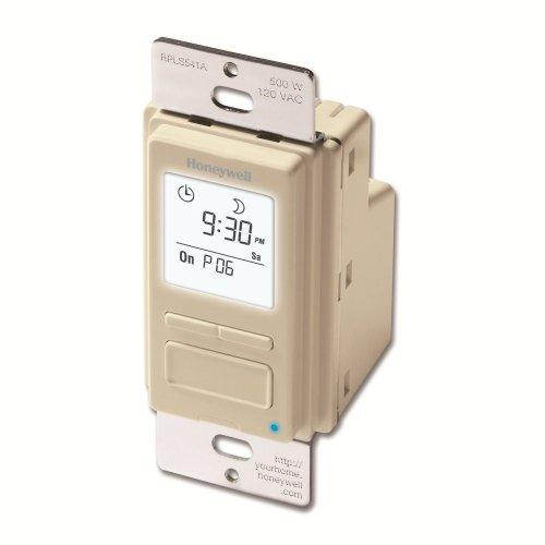Honeywell RPLS541A1001 RPLS541A 7Day Programmable Switch Timer Light Almond