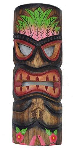Interlifestyle Tiki Maske 30cm im Hawaii Style Wandmaske Holzmaske Osterinsel