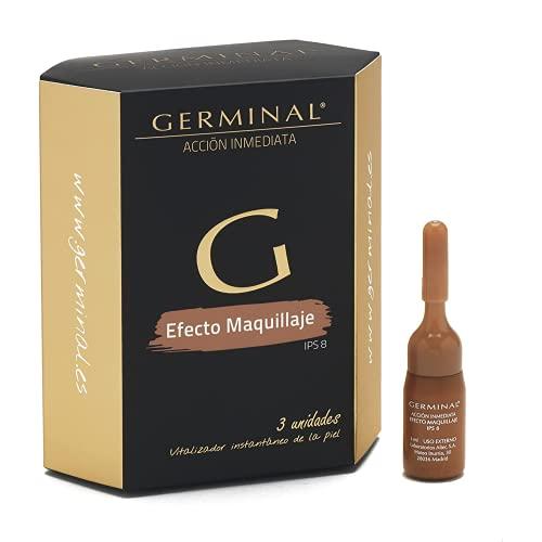 Germinal Acción Inmediata - Sérum Facial con Color, Efecto Flash, lifting inmediato y maquillaje, con proteínas de Almendras, Aloe Vera, y Vitamina E - 3 ampollas x 3 ml