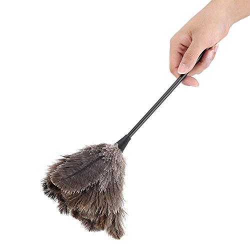 毛ばたき 羽根はたき ダチョウの羽箒 柔らかい 除塵 ほこり取り 静電気防止 家庭 ソファー家具 車用 隙間掃除 洗濯可能