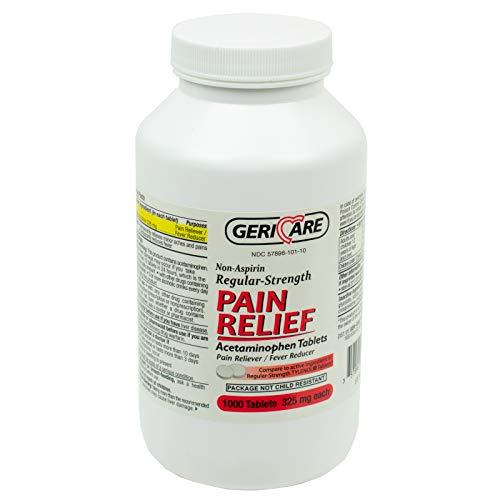 Geri-Care - 17534 Non Aspirin Pain Reliever, Regular Strength, 1000 Tablets