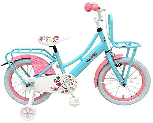 Volare Ibiza Kinderfiets - Meisjes - 16 inch - Blauw - 95% afgemonteerd