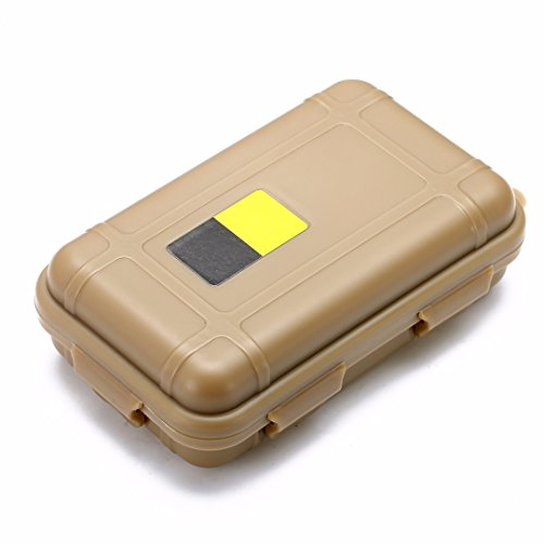 iDealhere Leben im Freien Wasserdichter Stoßfest Werkzeugkästen Koffer Werkzeugkiste Aufbewahrungskoffer (Beige, S)