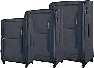 American Tourister Luggage Trolley Bags Set Of 3 Pieces, Grey, 00O08008, Unisex