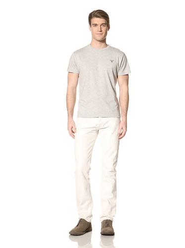GANT The Original SS T-Shirt Polo, Gris (Light Grey Melange 94), Large Homme