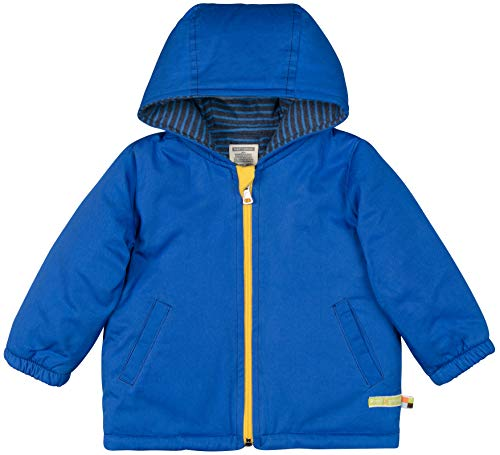 loud + proud Baby-Unisex Wasserabweisende, Wattierte Bio Baumwolle Jacke, Blau (Cobalt Cob), 92 (Herstellergröße: 86/92)