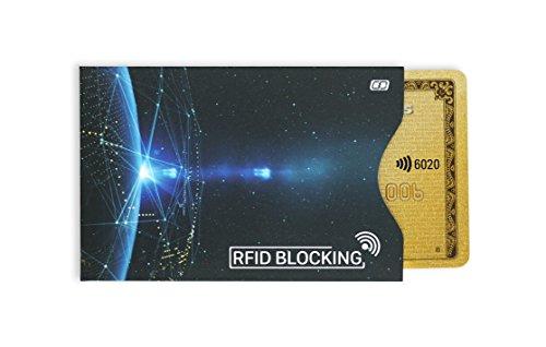 MyGadget Kreditkartenhülle abgeschirmt RFID & NFC [4 Stück] - EC Karten Schutzhülle Kartenhülle Schutz Blocker Karte fürs Portemonnaie