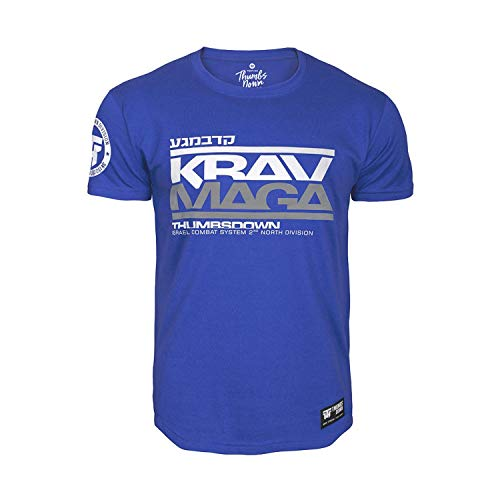Thumbs Down Krav MAGA T-Shirt. Israel Combat System. MMA. Kampfkünste. Gym. Training. Martial Arts(Größe XLarge)