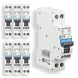 POPP® Interruptor Automático Magnetotérmico estrecho...