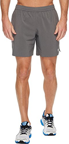 ASICS Mens Lite Show 7 Shorts Castlerock Spliced Stripe Print XX Large