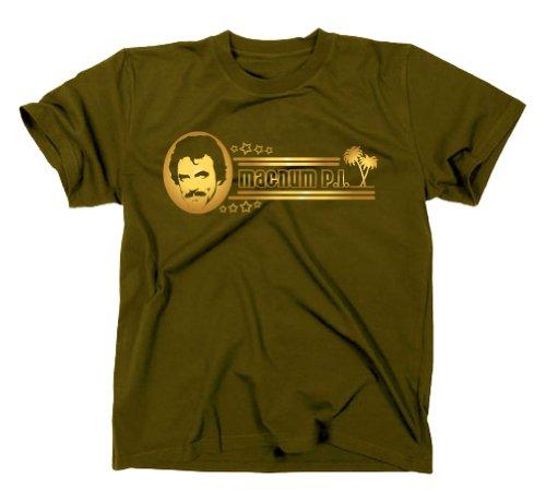 Magnum/pI p.i. kult t-shirt série années 80 Vert Vert s