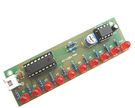 ILS - 3 Pezzi Cd4017 LED Flash Fai Da Te Kit 3-5V Luce LED Modulo NE555 +