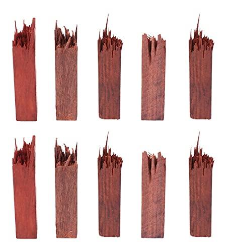 LIXBD 10 piezas de madera para manualidades de resina epoxi, marco de madera, kit de resina de madera, para suministros de joyería, colgante de resina, collar (tamaño: 4 x 0,9 x 0,9 cm)
