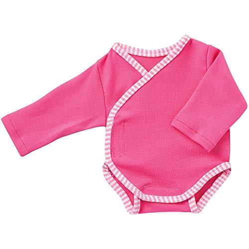 Unbekannt Schwenk Puppenkleidung, Body Langarm pink, für 42 bis 45 cm große Babypuppen