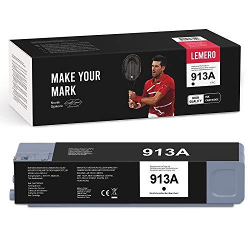 LEMERO 1 cartucho de tinta compatible para HP 913A para HP PageWide MFP 377dw 477dw 477dn 552dw Pro 377dn 352dn 452dw 452dn gestionado P55250dw P57750dw (negro)