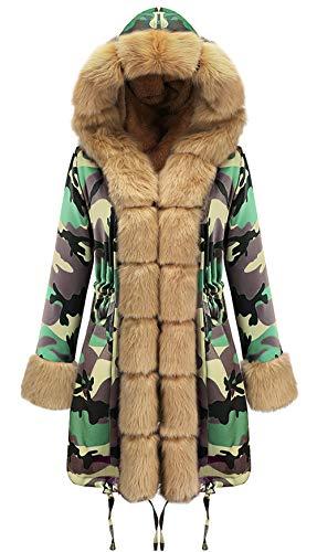ROSEUNION Damen Luxury Pullover Mantel Jacke Übergangsjacke Blazer Jeansjacke Parka Denim Winterjacke Mäntel Jeans Freizeitjacke (EU 46 / Asia XXL)