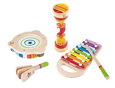 Hape Toddler Beat Box Set, Wooden Music Toy Set E8148